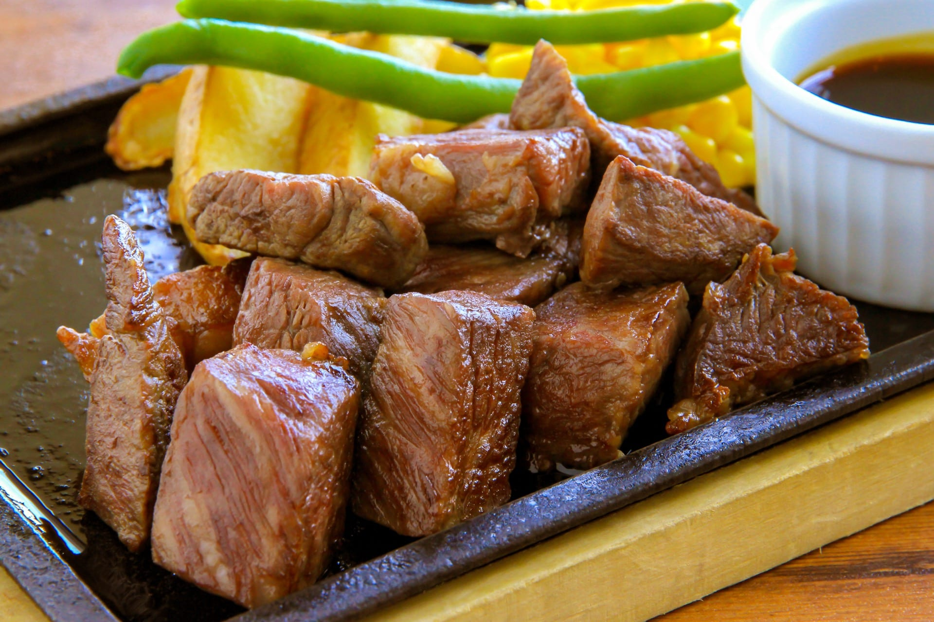 WA Foods diced cooked steak