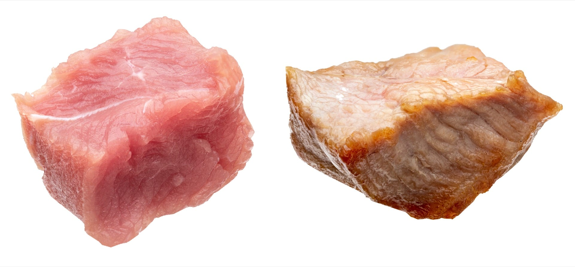 WA Foods diced chicken, raw and cooked